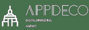 AppDeco White Logo transparent